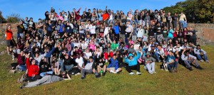 Common Ground students in a group portrait during the all-school hike.