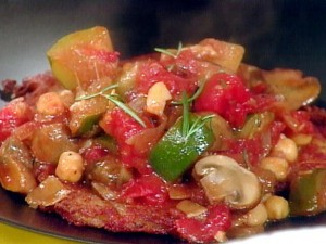 A close up view of vegetable stew