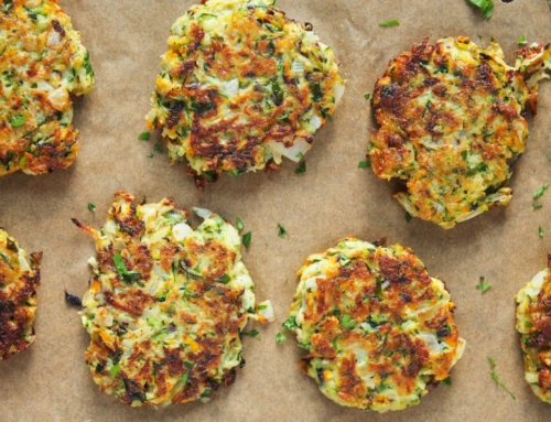 Seasonal Recipe: Zucchini, Kohlrabi, and Carrot Fritters