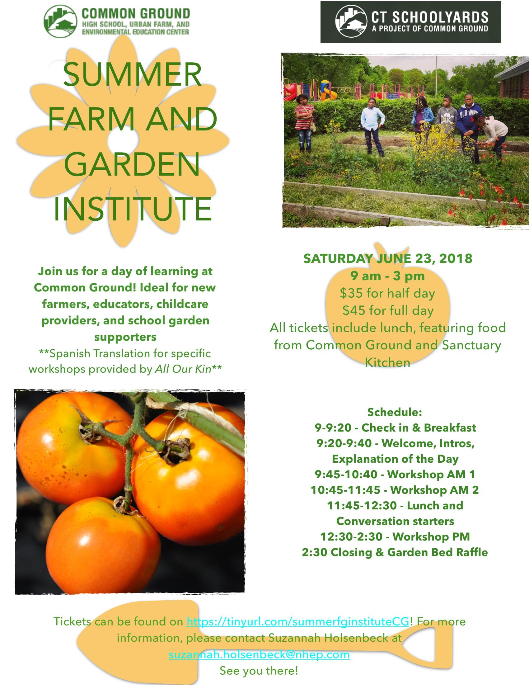 Common Ground\'s Summer Farm and Garden Institute – Common Ground