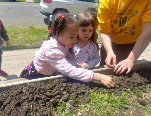 The weather hasn't held back the CT Schoolyards Program!